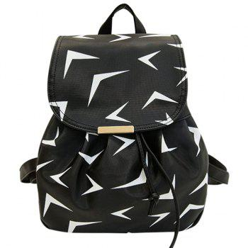 Printed Nylon Drawstring Backpack