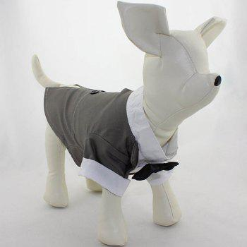 Soft Dovetail Dress Bow Tie Coat Pet Dog Clothes - L L
