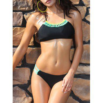 Hollow Out Criss Cross Bikini Set