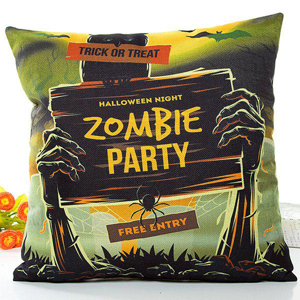 Halloween Soft Zombie Party Printed Pillow Case handpainted pineapple and fern printed pillow case