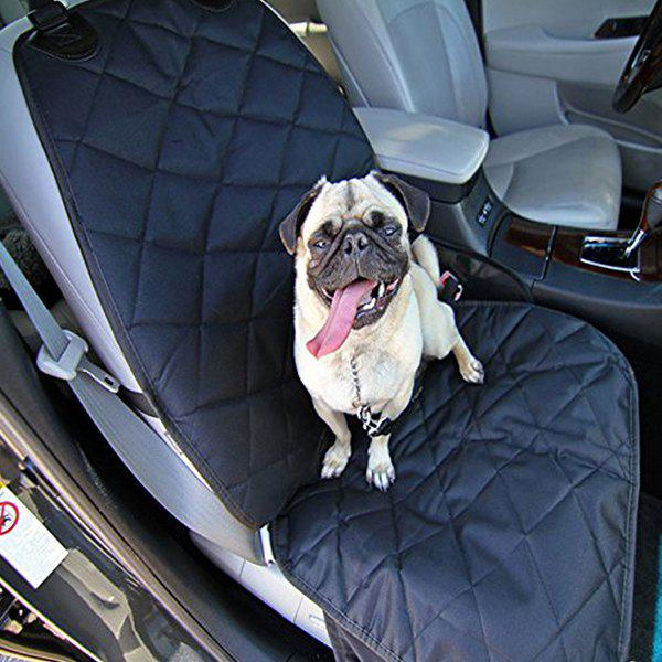 Pet Waterproof Wearproof Car Front Seat Covers Mat - BLACK