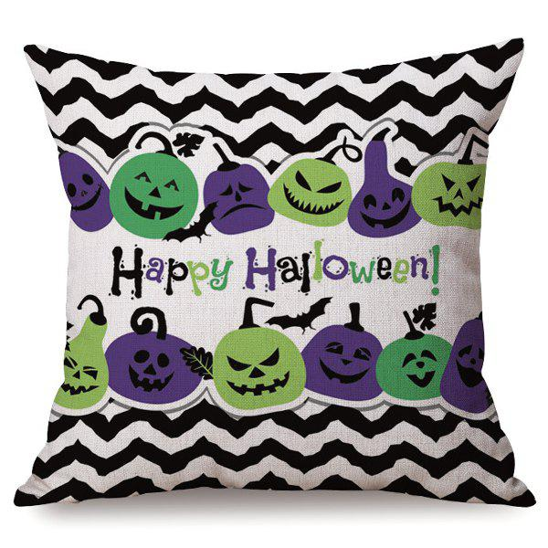 Halloween Sofa Cushion Wave Stripe Pumpkins Printed Antibacteria Pillow Case 2016 wilon fashion brand top quality luxury automatic watch male skeleton mechanical watch relojes hombre marca famosa