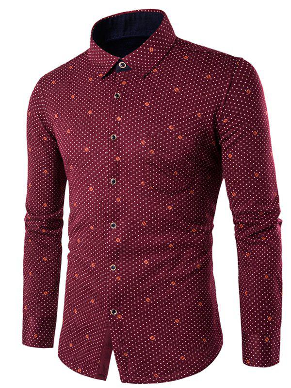 Manches longues Palka Dot Thermal Shirt - Rouge vineux L