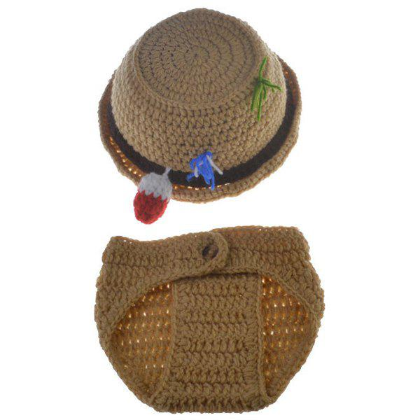 Crocheted  Infant Fisherman Photography Outfits - KHAKI
