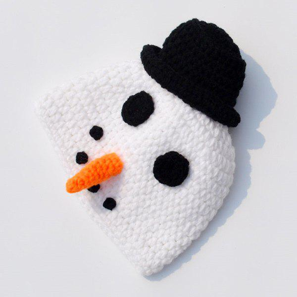 4PCS Crochet Snowman bébé Photographie Vêtements Set - Blanc