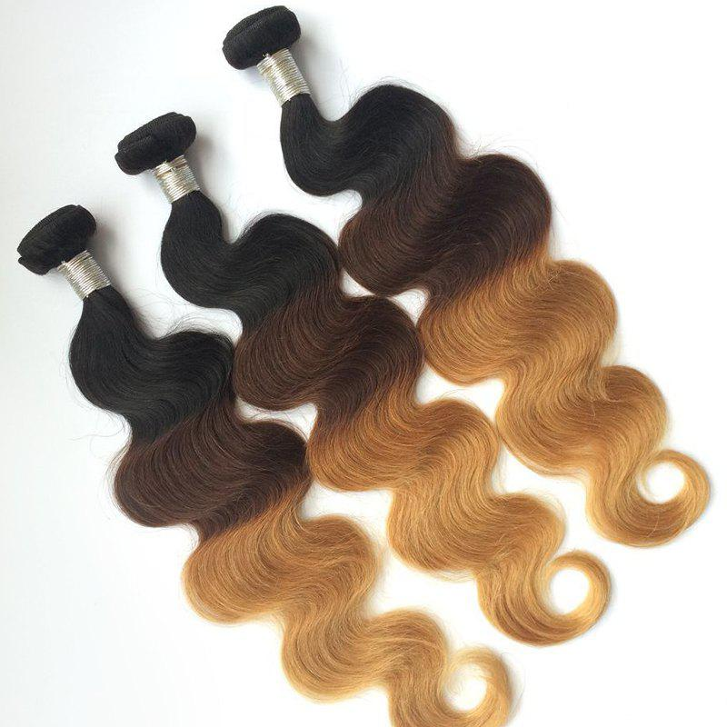 3 Pcs Body Wave 5A Remy Ombre Color Indian Hair Weaves - COLORMIX 18INCH*20INCH*20INCH