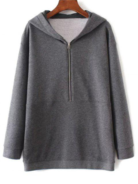 Graphic Oversized Hoodie - GRAY M