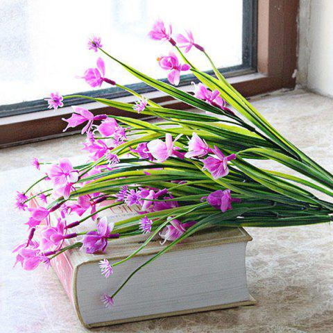 Butterfly Orchid Home Decor Artificial Flower - PURPLISH RED