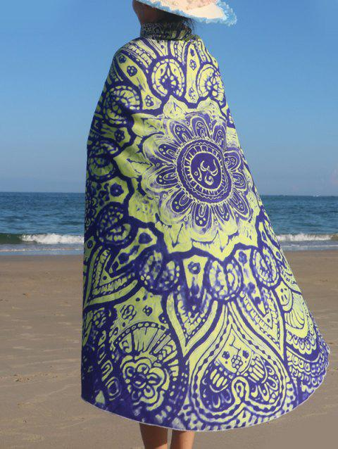 Round Shape Print Beach Throw - YELLOW ONE SIZE