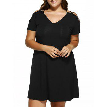 Plus Size Cut Out Mini Dress