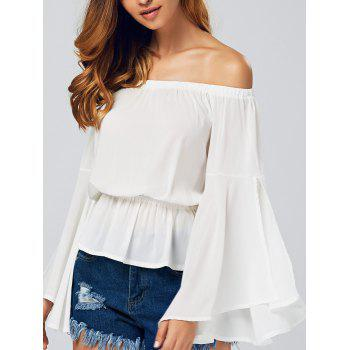 Off-The-Shoulder Hollow Out Blouse