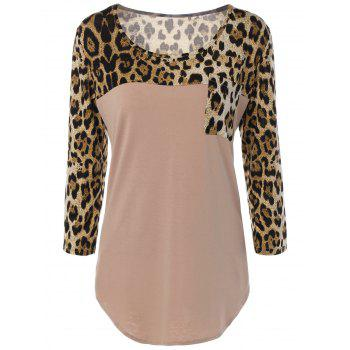 Pockets Leopard Print T-Shirt