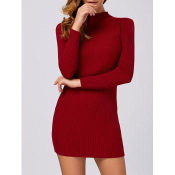 Ribbed Long Sleeve Sweater Dress