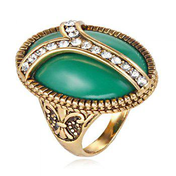 Faux Jade Embossed Ring