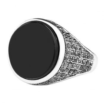 Round Rhinestoned Ring