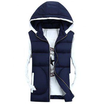 Thicken Zip-Up Hooded Down Waistcoat
