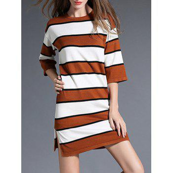 Color Block Striped Slouchy Jumper Dress