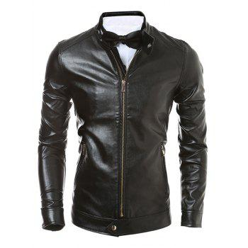Zip Up Faux Leather Jacket