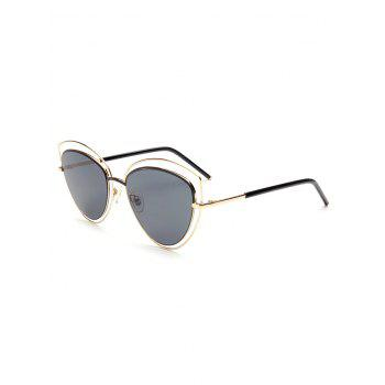 Hipsters Hollow Out Double Cat Eye Sunglasses