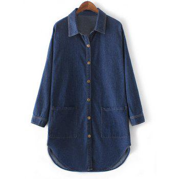Twin Pockets Buttoned Jean Coat