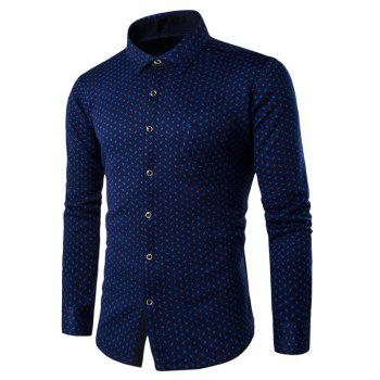 Long Sleeve Compass Pattern Thermal Shirt