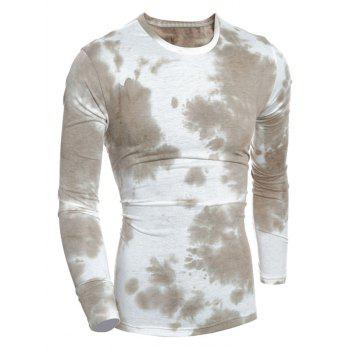 Tie-Dyed Long Sleeve Crew Neck T-Shirt