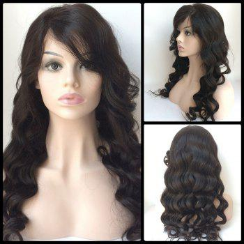 Side Bang Long Loose Wave Lace Front Human Hair Wig