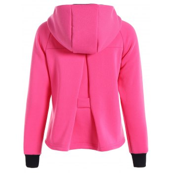 Bloc Hoodie manches Raglan Couleur - Rose Rouge S
