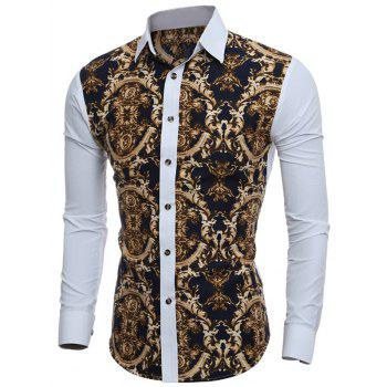 3D Retro Printed Slim-Fit Shirt