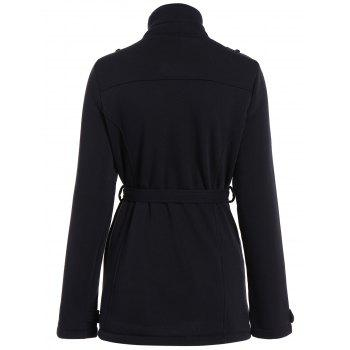 Double Coat Breasted Belted - Noir S