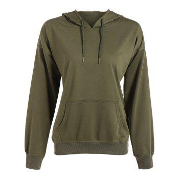 Batwing Sleeve Drawstring Oversized Hoodie - ARMY GREEN ARMY GREEN