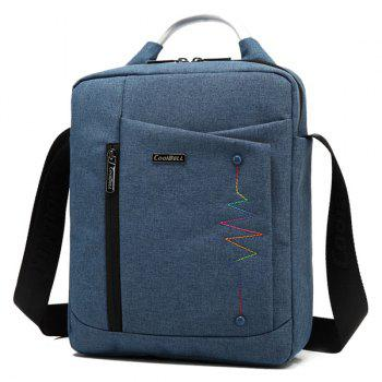 Zippers Stitching Bead Crossbody Bag - PURPLISH BLUE PURPLISH BLUE