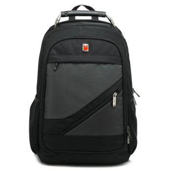 Zippers Metallic Nylon Backpack - DEEP GRAY DEEP GRAY