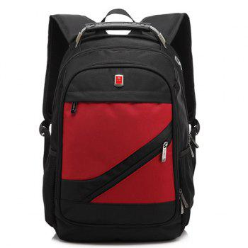 Zippers Metallic Nylon Backpack - RED RED