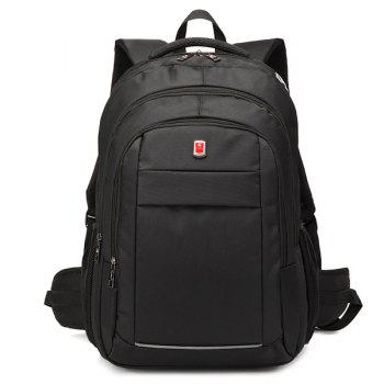 Zippers Dark Colour Metal Backpack