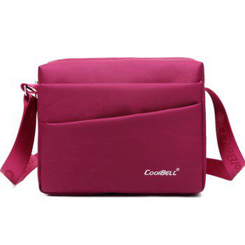 Zipper Nylon Square Shape Crossbody Bag