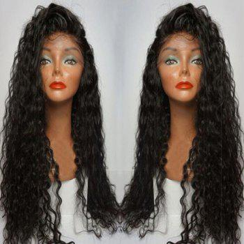 Long Curly Side Parting Lace Front Human Hair Wig