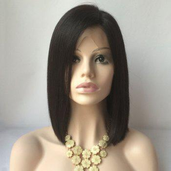 Medium Straight Side Parting Lace Front Human Hair Wig