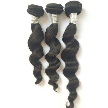 3 Pcs Pure Color 5A Remy Large Deep Wave Indian Hair Weaves - BLACK 18INCH*20INCH*20INCH