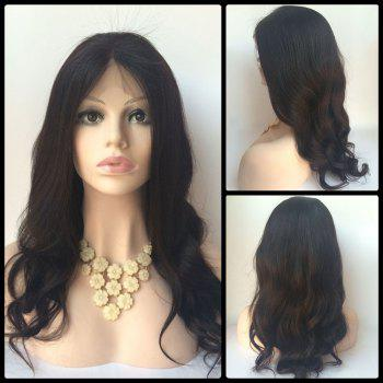 Body Wave Long Middle Parting Lace Front Human Hair Wig