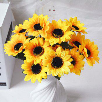 Country Style Home Decor Artificial Sunflower - YELLOW YELLOW