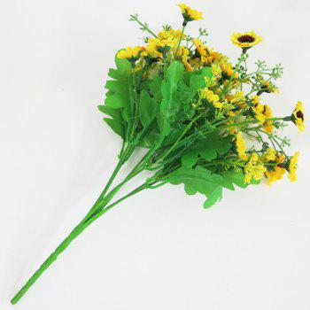 Real Touch Home Decor Daisy Artificial Flower -  YELLOW