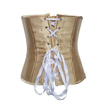 Hook Up Lace-Up Corset With Panties - COMPLEXION L