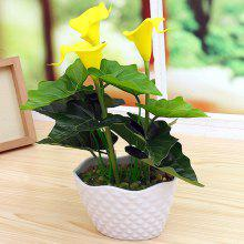 PU Real Touch Artificial Calla Flower Bonsai