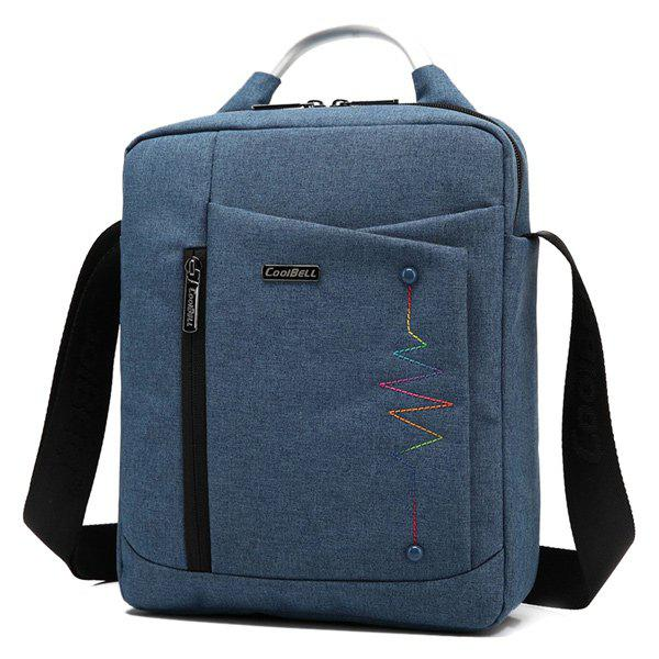 Zippers Stitching Bead Messenger Bag - Bleu Violet