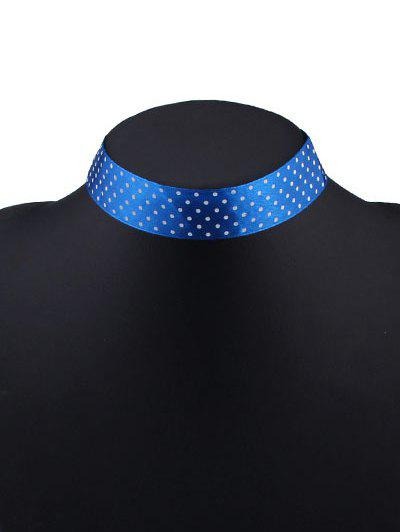 Ribbon Polka Dot Wide Choker Necklace