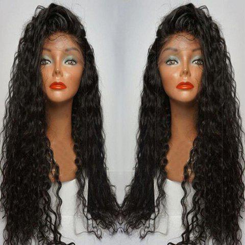 Long Curly Side Parting Lace Front Human Hair Wig 196838901