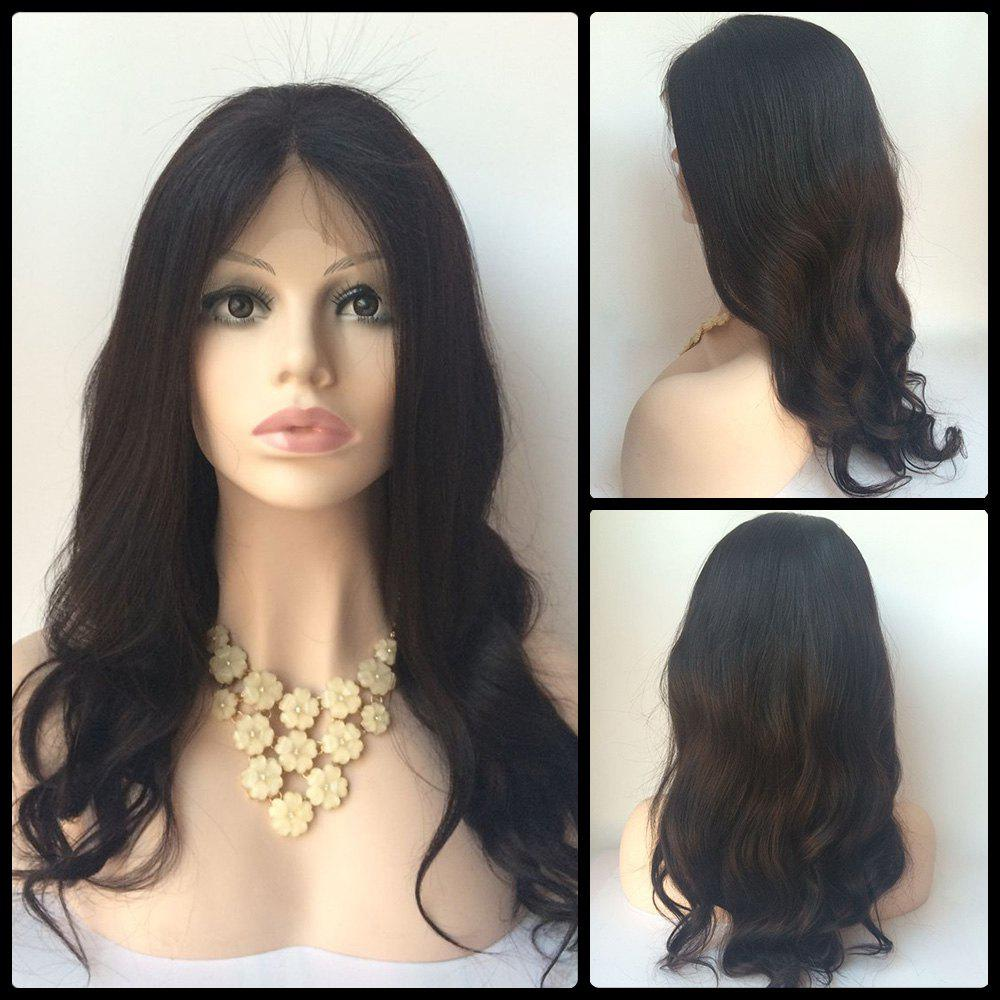 Body Wave Long Middle Parting Lace Front Human Hair Wig 7a cheap body wave lace front human hair