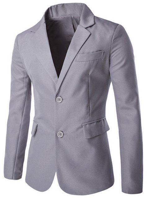 Lapel Side Slit single-breasted design Blazer - Gris M