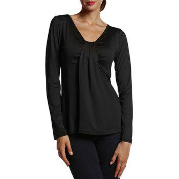 Ruched Long Sleeve Blouse